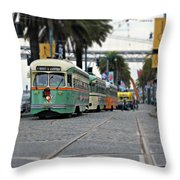 San Francisco Trolleys Throw Pillow