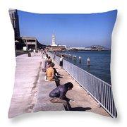 San Francisco Waterfront 1975 Throw Pillow