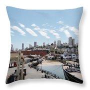 San Francisco Waterfront Throw Pillow