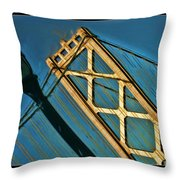 San Francisico Bay Bridge And Light Throw Pillow
