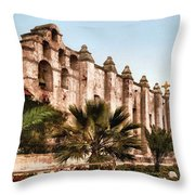 San Gabriel Mission 1899 Throw Pillow by Unknown