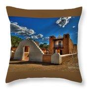 San Geronimo Church Taos Pueblo Throw Pillow