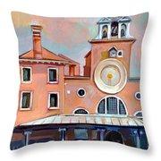 San Giacomo Di Rialto Throw Pillow