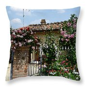 San Gimignano Beauty Of Tuscany  Throw Pillow