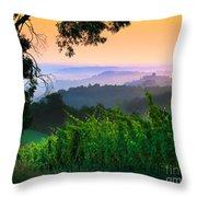San Gimignano Hills Throw Pillow