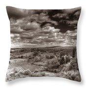 San Gimignano View Throw Pillow