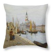 San Giorgio Maggiore From The Zattere Throw Pillow