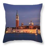 San Giorgio Maggiore Island Venice Italy Throw Pillow