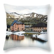 San Gottard Pass Throw Pillow