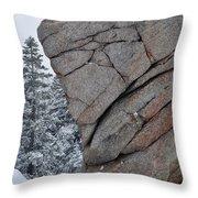 San Jacinto Rocky Wilderness Throw Pillow