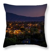 San Jose At Dusk Throw Pillow