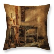 San Jose Mission Mill Throw Pillow