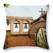 San Juan Capistrano Mission - Photography By Jo Ann Tomaselli Throw Pillow