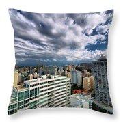 San Juan Puerto Rico Cityscape Throw Pillow