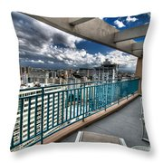 San Juan Puerto Rico Hdr Cityscape Throw Pillow by Amy Cicconi