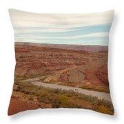 San Juan River Throw Pillow