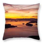 San Juans Sunset Throw Pillow