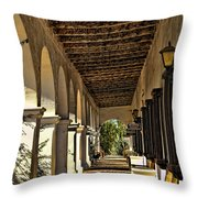 San Luis Rey Mission - California Throw Pillow