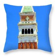 San Marco Campanile Throw Pillow