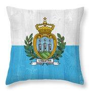San Marino Flag Throw Pillow