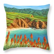 San Mateo Springtime Throw Pillow