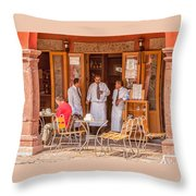 San Miguel - Waiting For Customers Throw Pillow