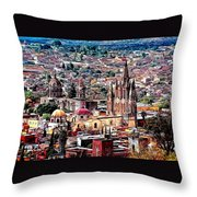 San Miguel De Allende Throw Pillow
