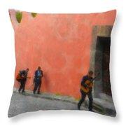 San Miguel De Allende Mexico Streets Throw Pillow