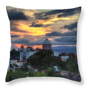 San Miguel De Allende Sunset Throw Pillow