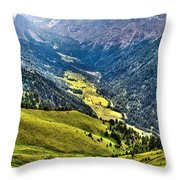 San Nicolo' Valley - Italy Throw Pillow