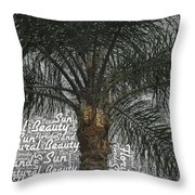 San Palm  Throw Pillow