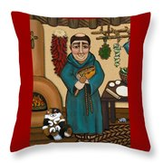 San Pascual Throw Pillow by Victoria De Almeida