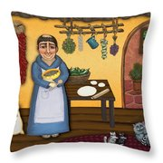 San Pascuals Kitchen 2 Throw Pillow by Victoria De Almeida