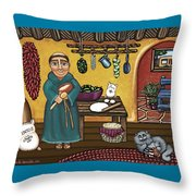 San Pascuals Kitchen Throw Pillow by Victoria De Almeida