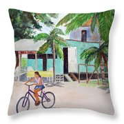San Pedro Cafe Throw Pillow