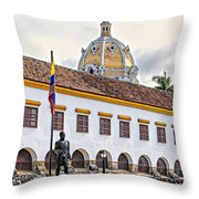 San Pedro Claver Monastery Throw Pillow