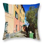 San Rocco In Camogli Throw Pillow