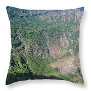 San Salvador Volcano Throw Pillow