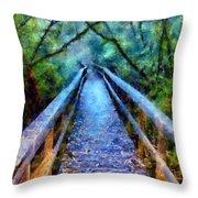 San Simeon Foot Bridge Throw Pillow