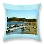 San Simeon Pier Throw Pillow