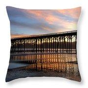 San Simeon Pier Throw Pillow