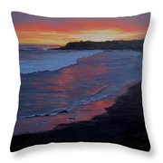 San Simeon Sunset Throw Pillow