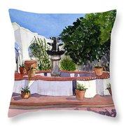 San Xavier Courtyard Throw Pillow