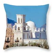 San Xavier Del Bac Mission Throw Pillow