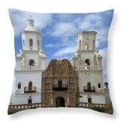 San Xavier Del Bac Mission Facade Throw Pillow