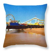 Sana Monica Pier Throw Pillow