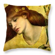 Sancta Lilias 1874 Throw Pillow