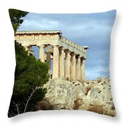 Sanctuary Of Aphaia 2 Throw Pillow