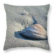 Sand And Seashell Throw Pillow