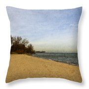 Sand And Water Throw Pillow